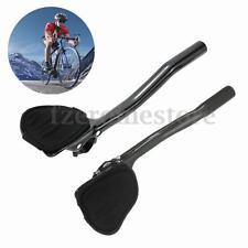 Carbon Fiber MTB Road Bike Bicycle Aero Bar Rest Handlebar Aerobar 31.8mm