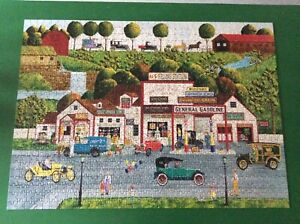 MasterPieces The Old Filling Station USA 1000 pc jigsaw puzzle complete RARE