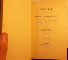 AURELIAN, OR ROME IN THE THIRD CENTURY - WILLIAM WARE - 1896 - HISTORY - ANTIQUE