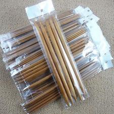 75pcs Set Carbonized Double Sizes Knitting Pointed Long Needles Durable Bamboo
