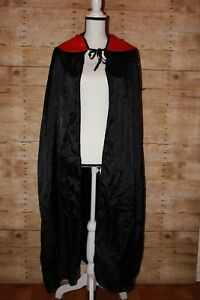 Dracula Vampire Cape Adult Unisex Red Collar Tie String Pre-Owned Good Condition