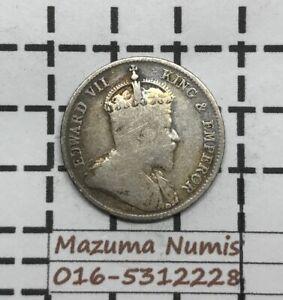 Mazuma *FC63 Hong Kong Edward VII 1904 10 Cents Silver .800 VF Only