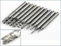 1-25mm HSS End Mill Milling Cutter 2 Flute Slot Drill Bit CNC Router 6-12mm SHK