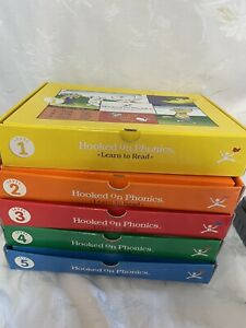 Hooked on Phonics Learn to Read Cassette Sets Homeschool Levels 1-5 READ