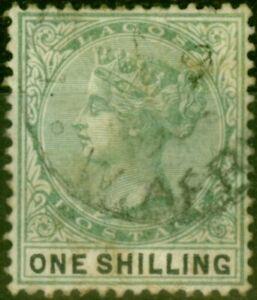Lagos 1887 1s Yellow-Green & Black SG38 Fine Used