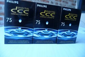 3 Philips DCC Tapes C75  NEW and sealed