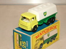 Matchbox No 25 Bedford TK Fuel tanker Exe and boxed
