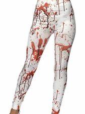 WHITE sanguinoso omicidio Sangue Splatter Halloween stampato Leggings