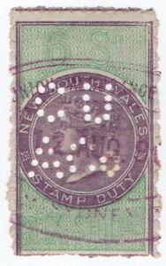 (I.B) Australia - NSW Revenue : Stamp Duty 6/- (Commercial Union perfin)