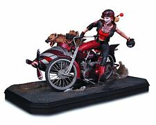 Harley Quinn Gotham City Garage Deluxe Statue with Sidecar & Bud & Lou 2016 OOP