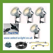 Techmar Garden Spot Lights CATALPA (4 Set) - Plug & Play System