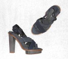 """SURFACE TO AIR  sandales cuir daim bleu & cuir gris P 37 """"neuves"""""""