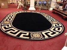 Seiden alfombra barroco Gold-negro 240x160cm Medusa Versac Rug Carpet oval