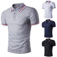 Mens Stylish Casual Slim Fit Short Sleeve Polo Shirt T-shirts Tee Shirt Tops New
