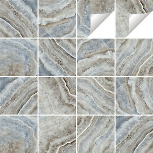 Marble Tile Stickers Transfers Kitchen Bathroom Various Sizes - M9