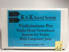 "NEW K&K Sound Violinissimo PRO Violin/Viola 3 Sensor Pickup w/Side Mnt 1/4"" Jack"