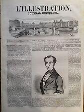 L'ILLUSTRATION 1847 N 252 M. DUVRGIER de HAURANNE, DEPUTE DU CHER