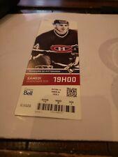 Montreal Canadiens 2013 Season  Unused Ticket Stub