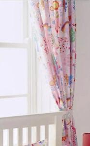 Girl's Unicorn Pencil Pleat Headed Curtains Little Big Cloud Pink - New