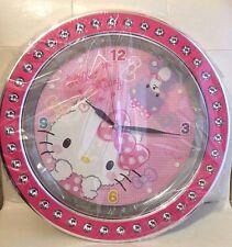 RARE SANRIO Friend Ship Club HELLO KITTY Wall Clock 13inch KAWAII FROM JAPAN