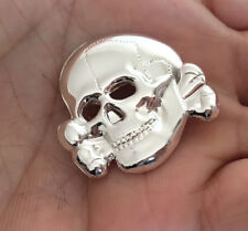 Skull MILITARY EMBLEM METAL INSIGNIA COLLAR BADGE PIN Army Medal  size: 3 cm