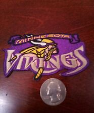 "MINNESOTA VIKINGS  Vintage EMBROIDERED IRON-ON patch  3.5"" x 2"""