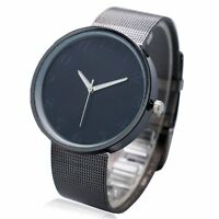 Black Metal Iron Net Mesh Band Quartz Wrist Watch Men Women Girl Boy Gift Q1003