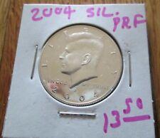 2004 S Silver Proof Kennedy Half Dollar 90 % Silver  Proof Half Dollar