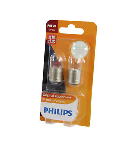 Genuine PHILIPS Premium Vision Parking Light Globe R5W 12V 5W - Pair (2 Pack)