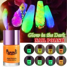 8 Colors Glow in the Dark Neon Fluorescent Nail Polish Varnish Luminous Paint