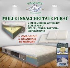 MATERASSO A MOLLE INSACCHETTATE MATRIMONIALE MEMORY WATERLILY  E PURO'