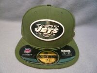 New Era 59fifty New York Jets Game On Field BRAND NEW Fitted cap hat Solid NY