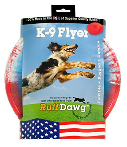Ruff Dawg K9 Flyer Rubber Dog Toy Large Assorted Colors