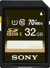 Sony 32 GB SDHC SD Memory Card For Cameras SF-32UY2 32GB