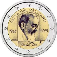 """2 Euro Gedenkmünze Vatikan """"50. Todestag von Padre Pio"""" 2018 BU im Folder"""