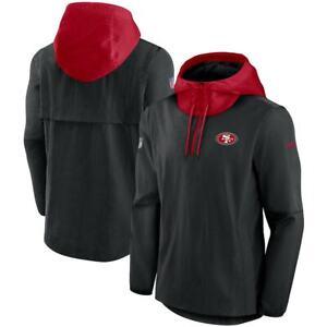 Brand New 2021 NFL San Francisco 49ers Nike Sideline Player Quarter-Zip Jacket