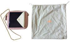 ORLA KIELY Leather Square Poppy Bag Goldtone Chain Strap Fur Detail Dustbag NWOT