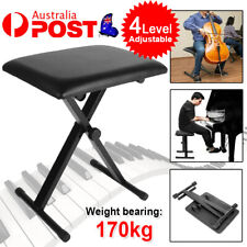4 Way Portable Piano Chair Stool Adjustable Folding Liftable Keyboard Seat Bench