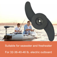 Marine Parts Trolling Motor 2 Blade Propeller For 32-46 lb Electric Outboard use
