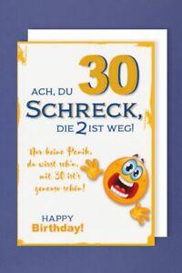 30 Geburtstag Karte Grußkarte Humor Schreck Panik 16x11cm