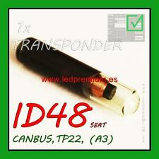 1x TRANSPONDER KEY MEGAMOS ID48 TP22 A3 SEAT CANBUS CHIP