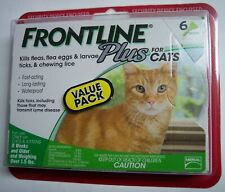 Frontline Plus Flea & Tick Control for Cats, Kittens Over 1.5 lbs (6 Dose Box)
