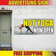 Hot Yoga Now Open Advertising Banner Vinyl Mesh Decal Sign soon lessons trains