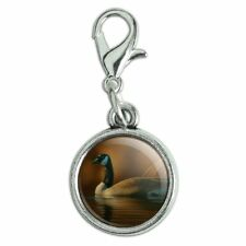 Canada Canadian Goose Antiqued Bracelet Charm with Lobster Clasp