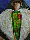 Guardian Angel Original Painting On Slate Art by Rain Crow