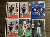 Lot of 11 Randy Moss Minnesota Vikings 1998 Rookie Cards