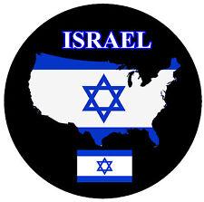 ISRAEL MAP / FLAG - ROUND SOUVENIR FRIDGE MAGNET - BRAND NEW - GIFT