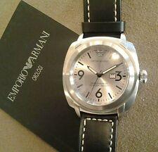 ARMANI AR 5830 orologio nuovo uomo acciaio  cassa MM 45,00  quadrante argentè