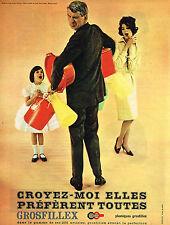 PUBLICITE  1960   GROSFILLEX    plastiques
