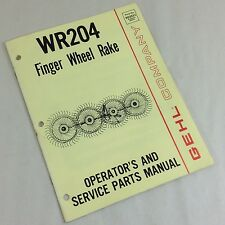 Gehl Company Wr204 Finger Wheel Rake Operators Owners Amp Service Parts Manual